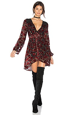 Burnout Floral Wrap Dress