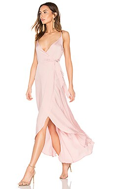 Tissue Satin Wrap Dress