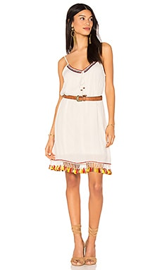Tassel Trim Belted Shift Dress