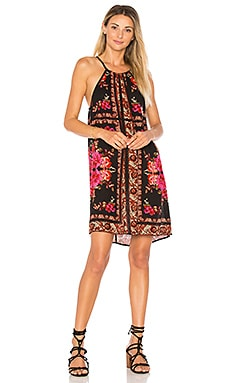 Scarf Print High Neck Dress