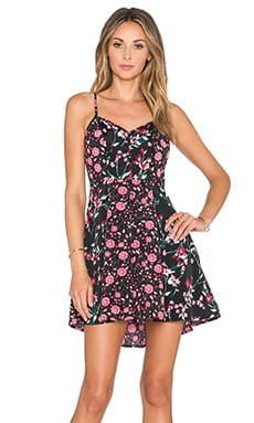 Band of Gypsies Mini Dress in Black & Rose