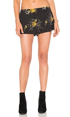 Floral Short in Black & Yellow