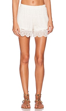 Band of Gypsies Lace Short in White