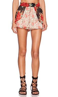 Band of Gypsies Bohemian Short in Red Floral
