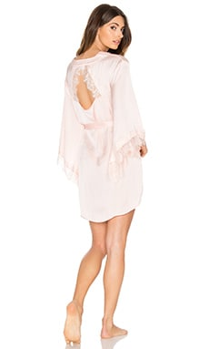 Band of Gypsies Gypsy Nights Lace Robe in Blush