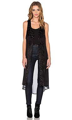 Band of Gypsies Patterned Vest in Black