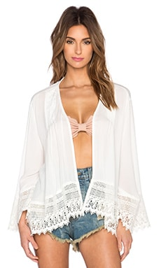Band of Gypsies Dev Kimono in White