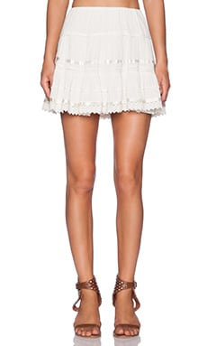 Band of Gypsies Isabel Skirt in White
