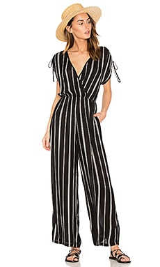 Pinstripe Jumpsuit in Black & Ivory