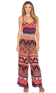 Band of Gypsies Jumpsuit in Black & Purple