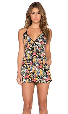 Band of Gypsies Utility Romper in Black & Yellow & Red