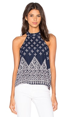 Halter Tank in Navy & White