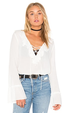 Tie Neck Blouse in Ivory