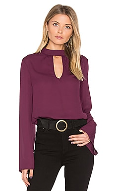 High Neck Blouse in Mulberry