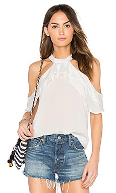Ruffle Blouse in Ivory