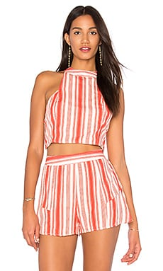 Stripe Smocked Crop Top