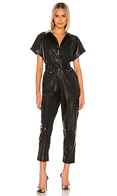PU Belted Jumpsuit Bardot $112