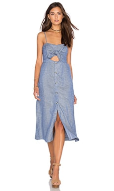 Bardot Gloria Dress in Chambray