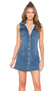 Soho Denim Sleeveless Dress in Vintage