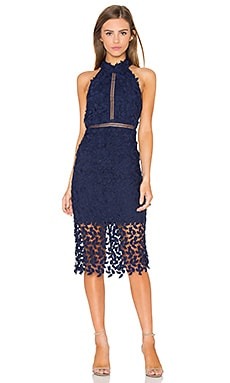 Bardot Gemma Dress in Blue Ink