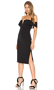 Candice Midi Dress in Schwarz