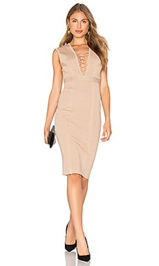 Jourdan Panel Dress in Mocha
