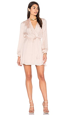 Miranda Wrap Dress in Prosecco