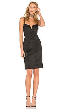 Alexandra Metallic Dress in Black
