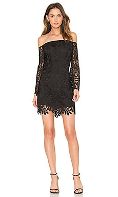 Flora Lace Dress in Black