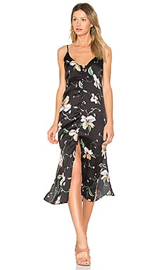 Applique Slip Dress in Schwarz