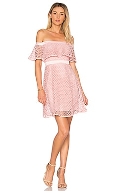 Off Shoulder Lace Dress in Petal