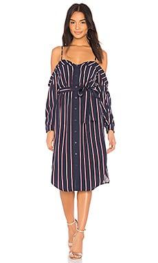 Купить Платье - Bardot синего цвета