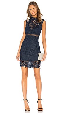 Paris Lace Dress Bardot $129
