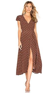 Polka Dot Wrap Dress Bardot $72