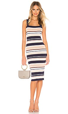 Multi Stripe Dress Bardot $99