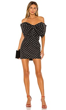 Spot Bow Dress Bardot $119