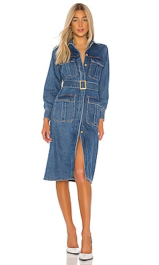 Denim Shirt Dress Bardot $109 NEW ARRIVAL