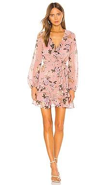 Frill Floral Dress Bardot $119