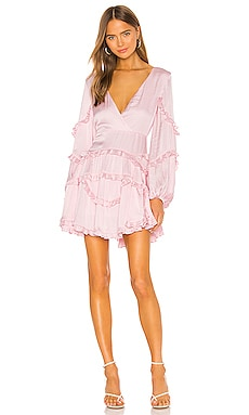 Nala Frill Dress Bardot $139 NEW ARRIVAL