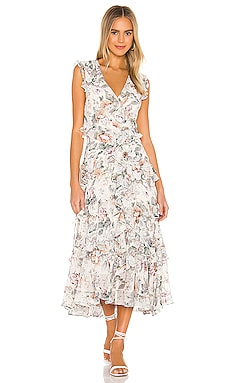 Nelly Floral Dress Bardot $114