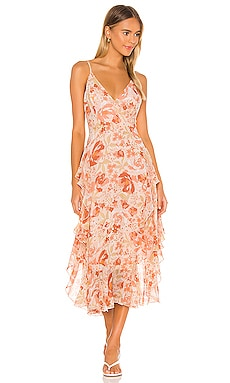 Rochelle Flutter Dress Bardot $119 NEW