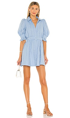 Mini Broderie Dress Bardot $139 Sustainable