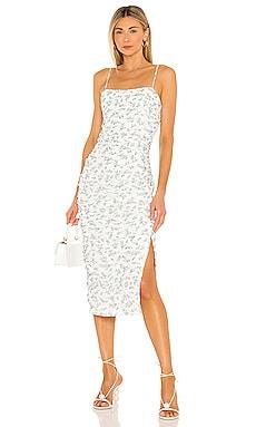 Ditsy Ruched Midi Dress Bardot $119