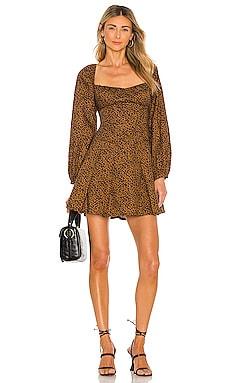 Leopard Print Dress Bardot $129 NEW