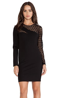 Bardot Slashes Lace Dress in Black
