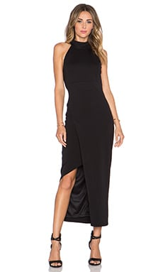 Bardot Diverge Maxi Dress in Black