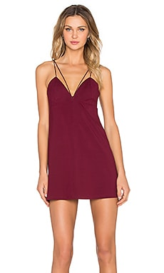 Bardot Miranda Dress in Bordeaux