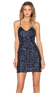 Bardot Viva Sequin Dress in Navy
