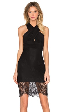 Lace Allure Dress in Black