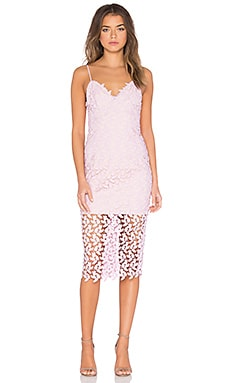 Bardot Flora Lace Midi Dress in Pink